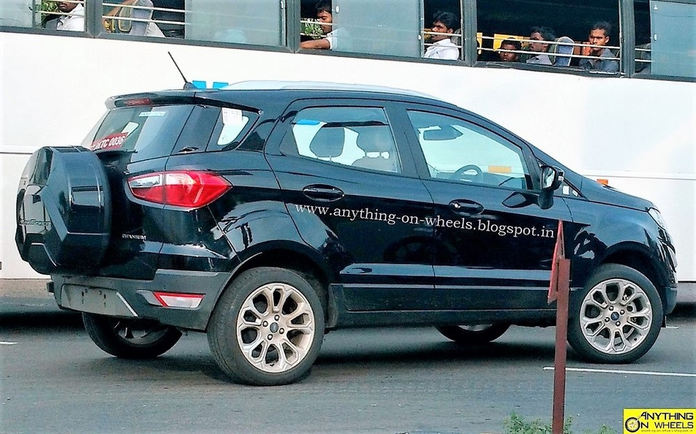 These Mules Were Caught Near Fords Manufacturing Plant Around Chennai The 2017 EcoSport Facelift Gets A New