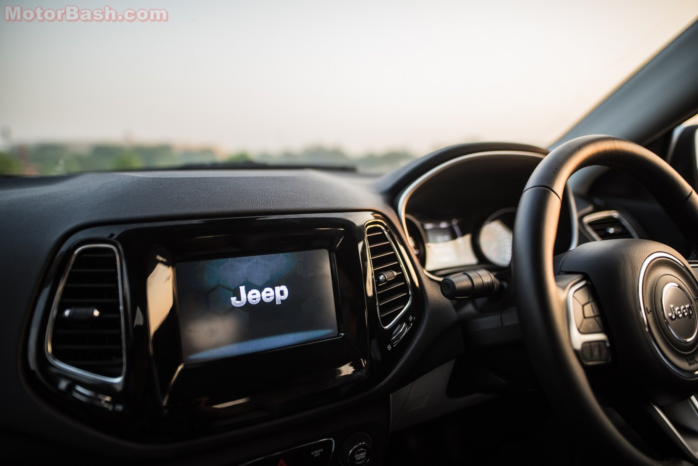 Jeep Compass Review Dashboard and Steering Wheel